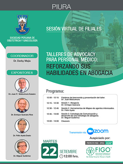 Sesión Virtual de Filiales – Piura- 22 de setiembre 2020
