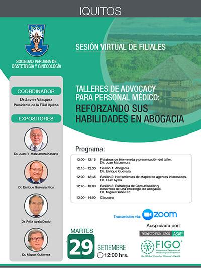 Sesión Virtual de Filiales – Iquitos- 29 de setiembre 2020
