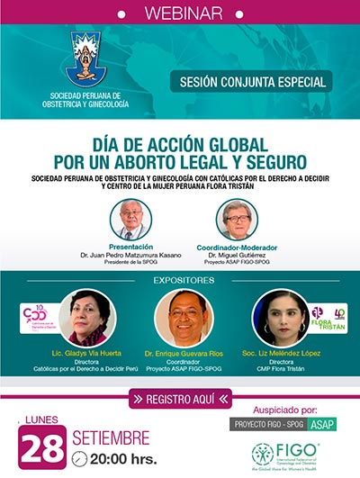 WEBINAR – Sesión Conjunta Especial – 28 de setiembre de 2020