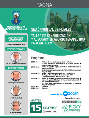 Sesión Virtual de Filiales – Tacna – 15 de diciembre 2020