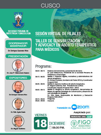 Sesión Virtual de Filiales – Cusco – 18 de diciembre 2020