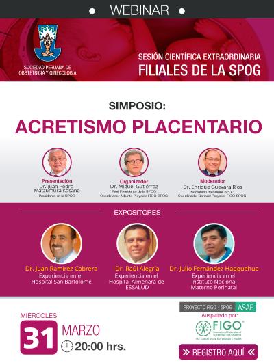 WEBINAR – Sesión Científica Extraordinaria – 31 de marzo de 2021
