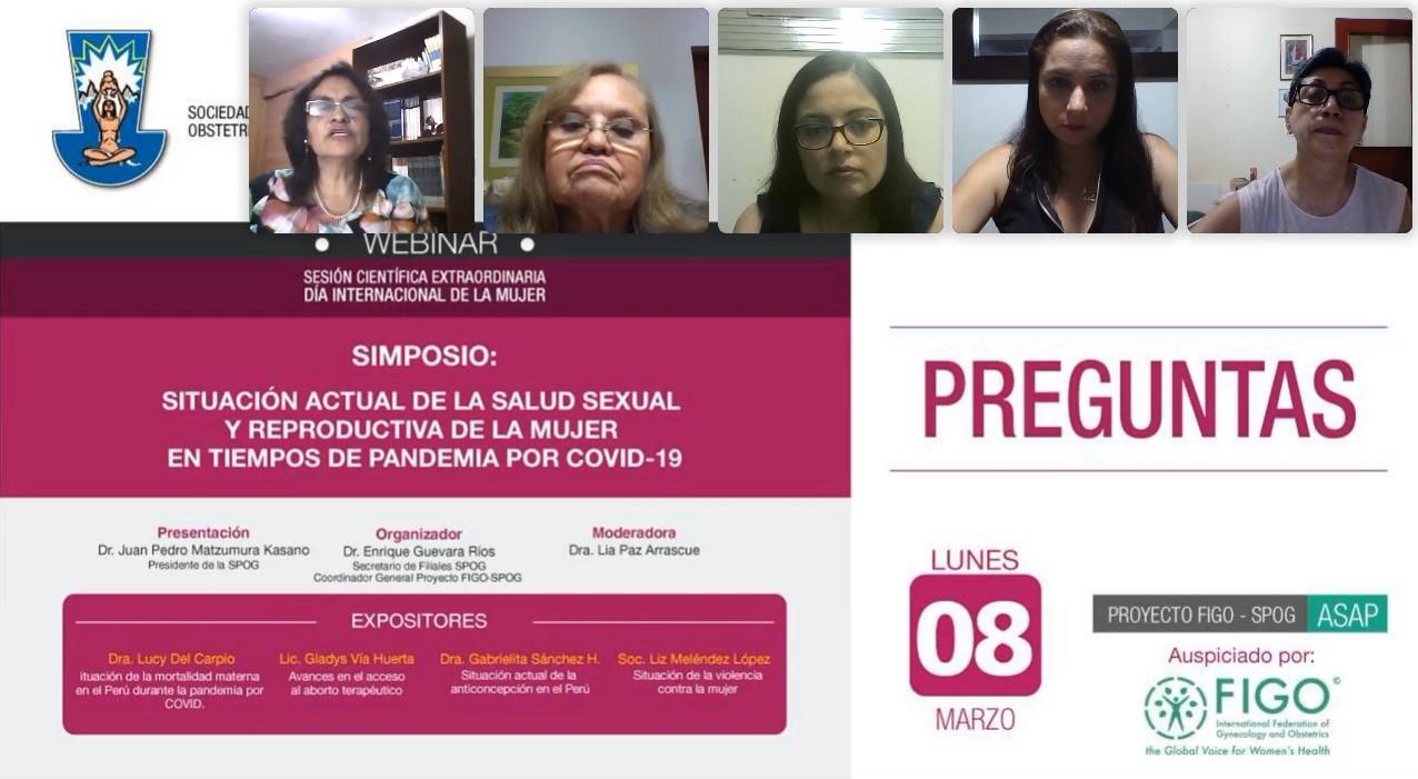 WEBINAR – Sesión Científica Extraordinaria  – Día Internacional de la Mujer – 08 de febrero 2021