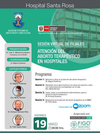 Sesión Virtual de Filiales – Hospital Santa Rosa – 19 de marzo 2021